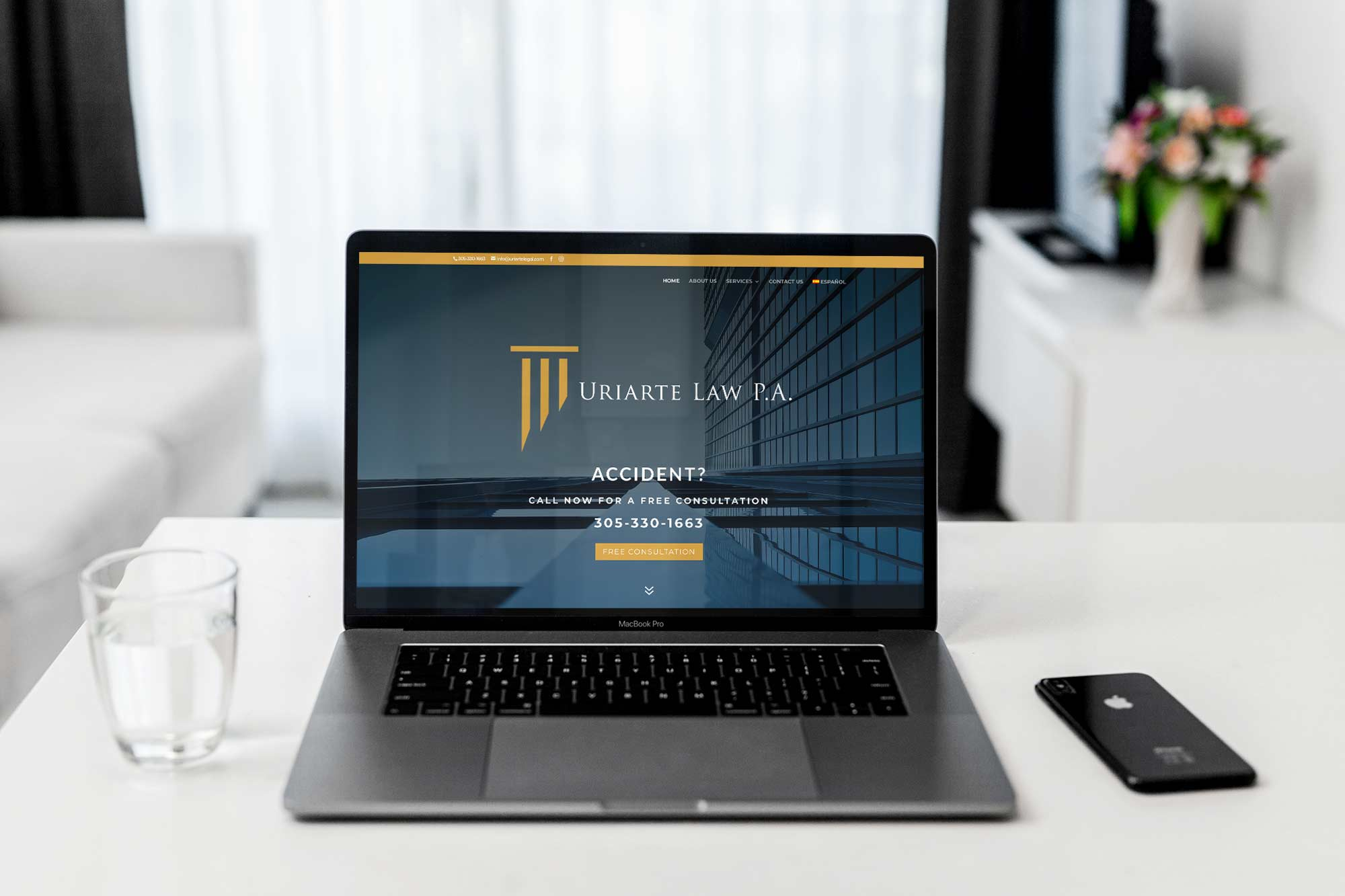 uriarte law website mockup